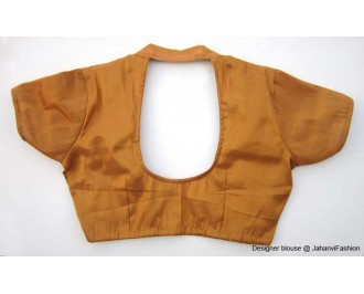 Shimmer Blouse With Collar Copper